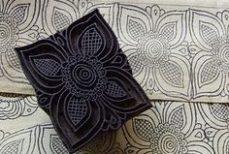 Tissus imprimés au tampon de bois