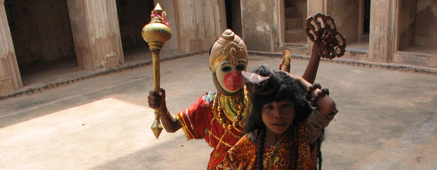 hanuman théâtre enfant Rajasthan
