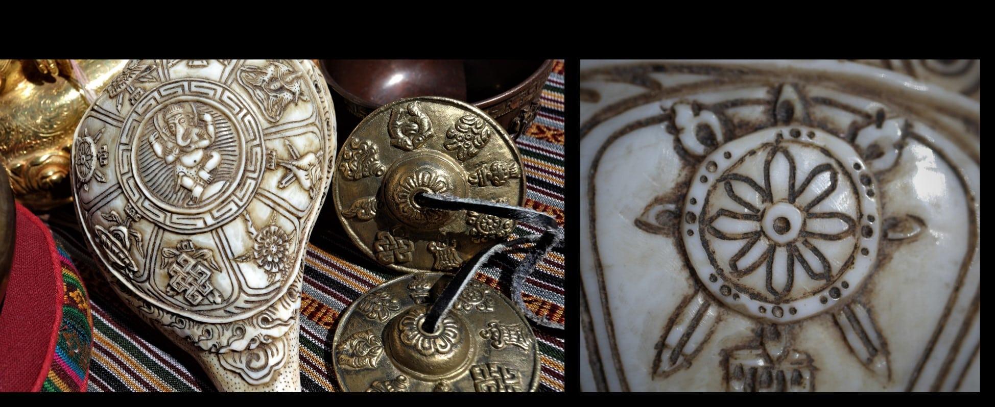 roue Ashtamangala huit symbole bon augure Mes Indes Galantes Paris