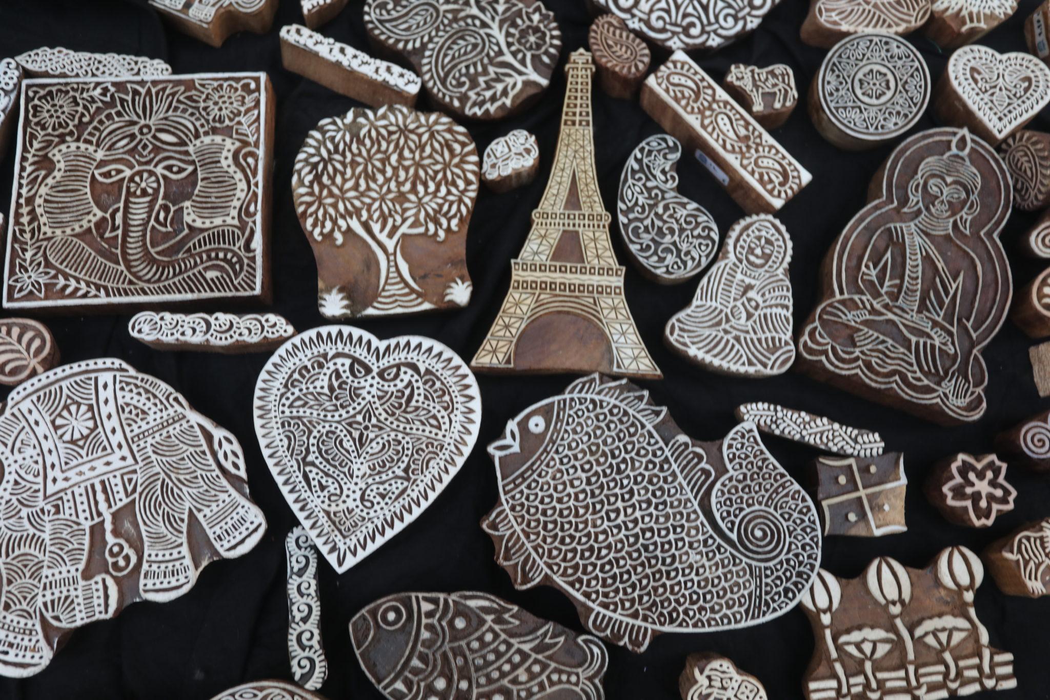 TAMPON TISSU INDIEN ACHAT PARIS block print