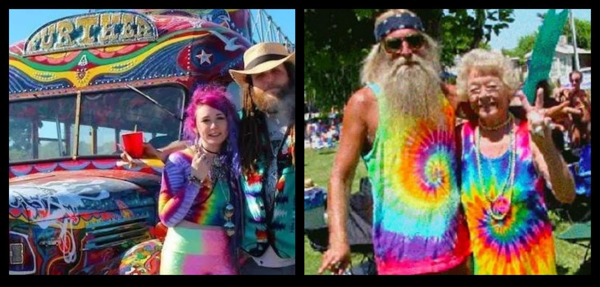 tie and dies hippies