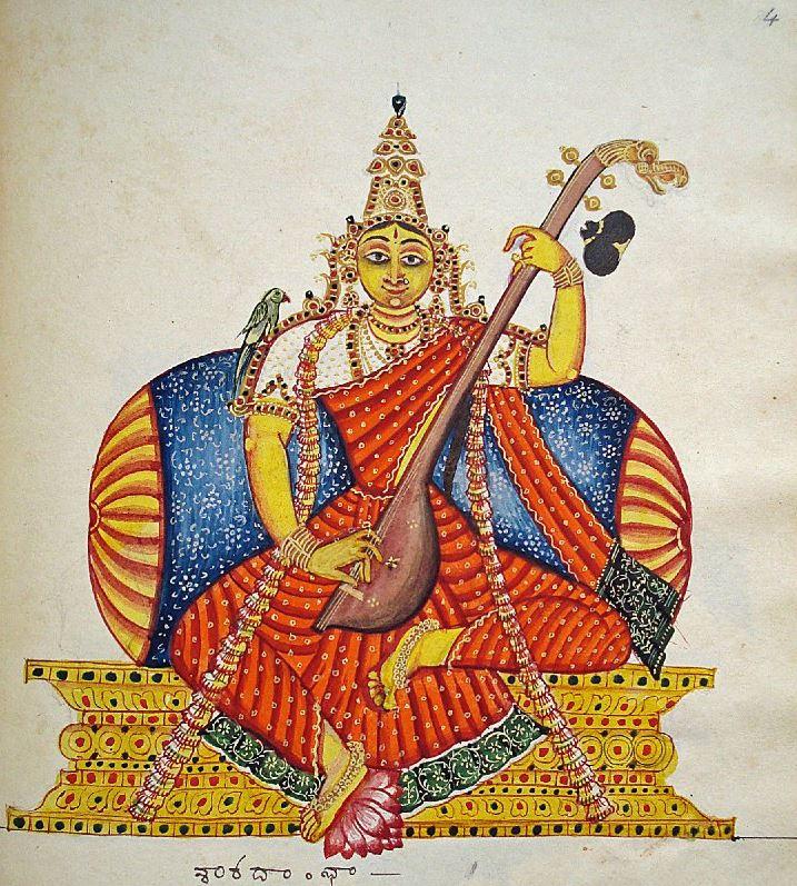 saraswati british muséum déesse connaissance brahma