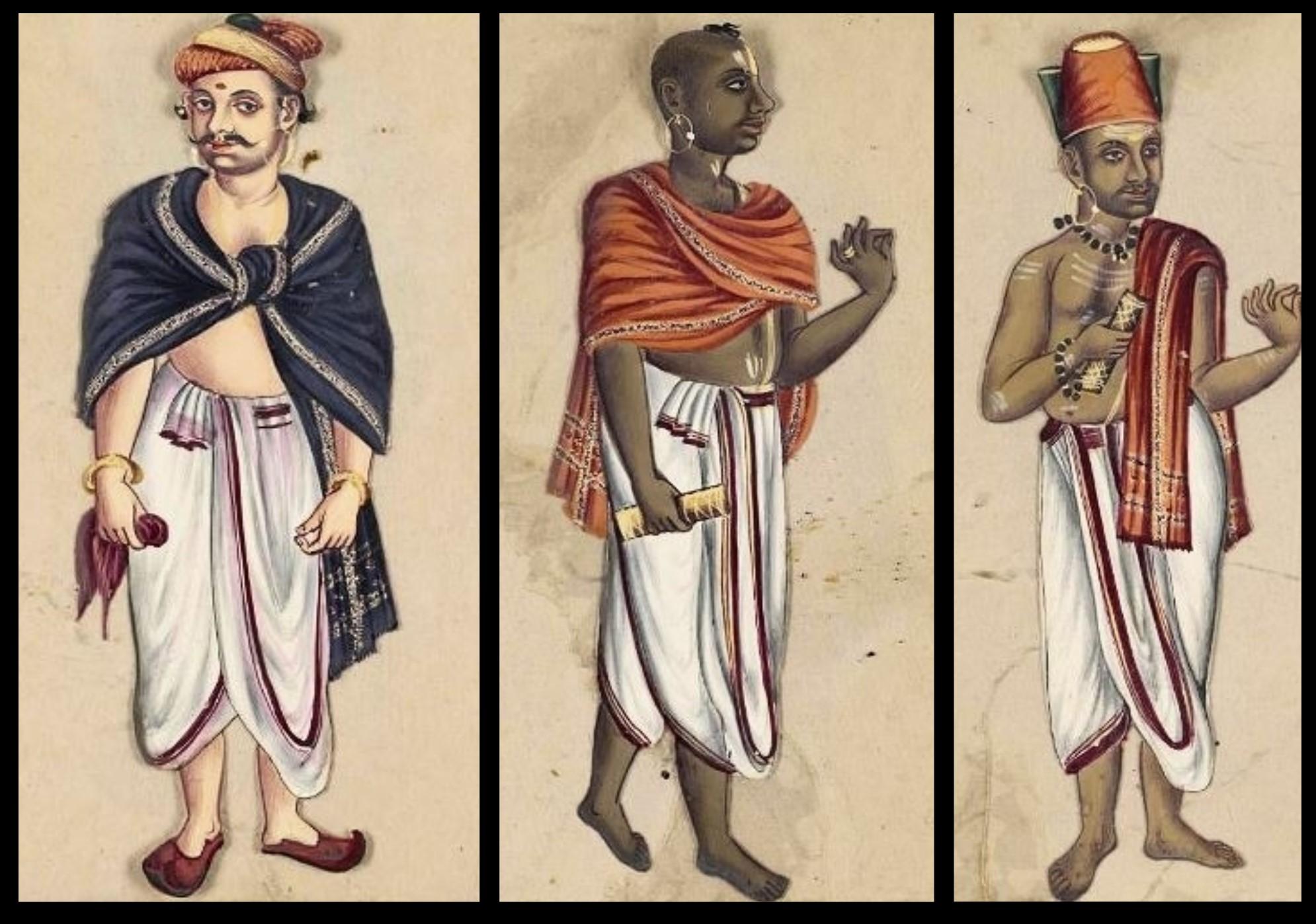 Vêtements indiens hommes Veshti Dhoti Longhi Mes Indes Galantes