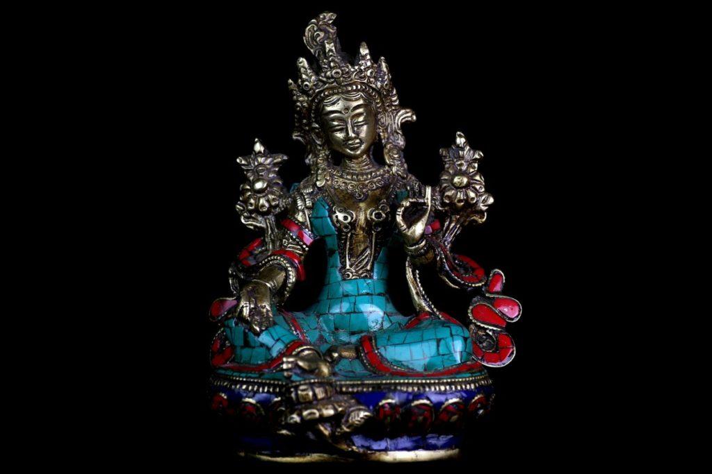 statue pierre  tibet tara verte achat paris