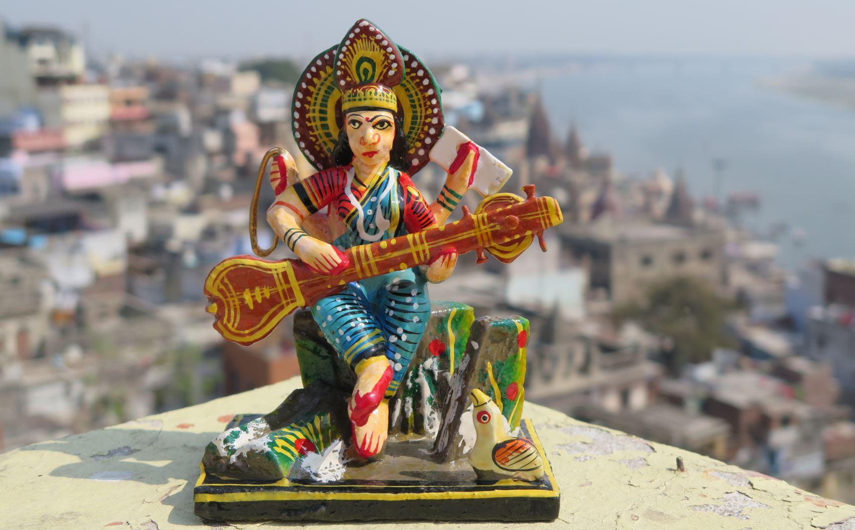 saraswati statue inde achat pas cher