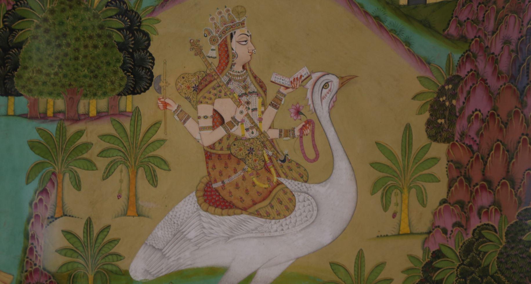 saraswati cygne ART MUSIQUE SAVOIR symbol