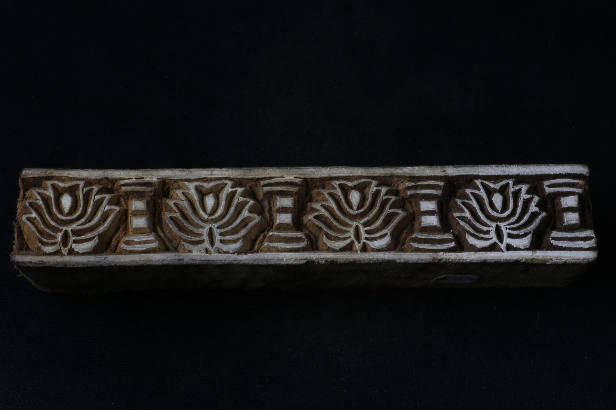 bloc de bois tissu indien