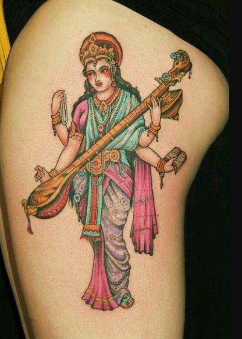 Tatouage déesse connaissance Brahma