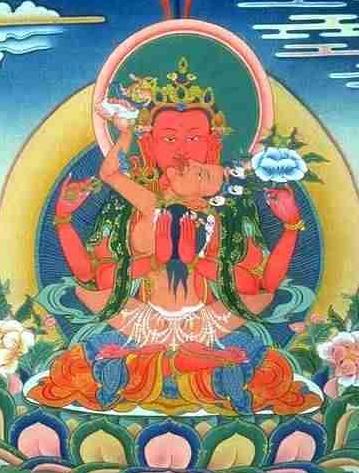 Amitabha Yab-Yum Protecteur