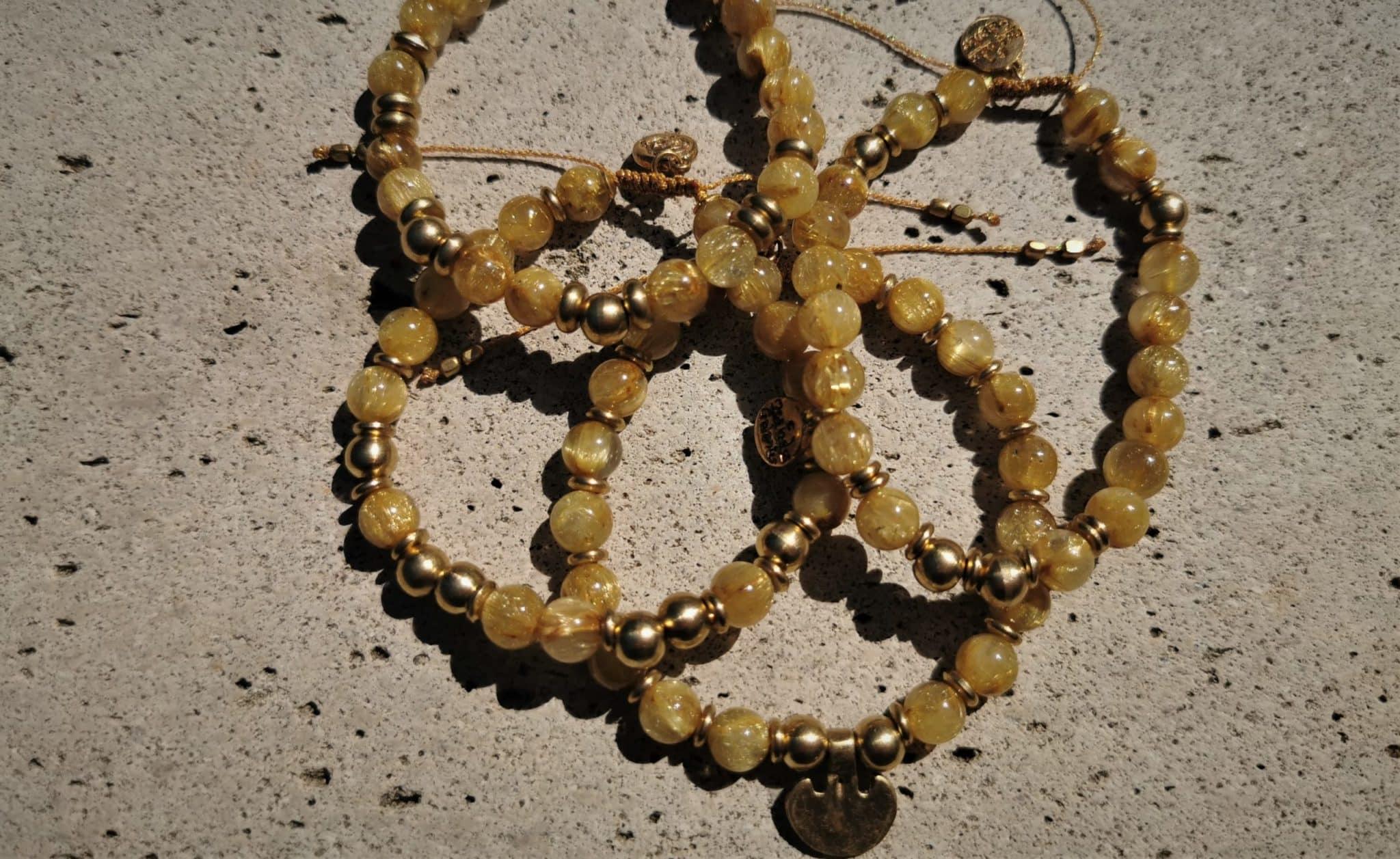 Bracelet quartz rutilé gold MES INDES GALANTES PARIS