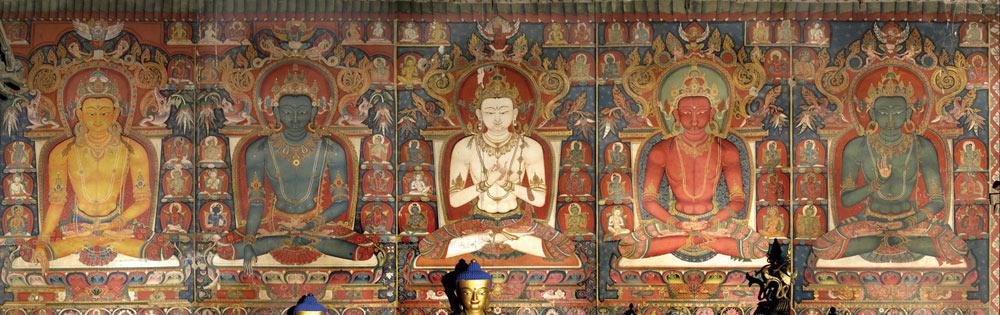 cinq Dhyani Bouddha