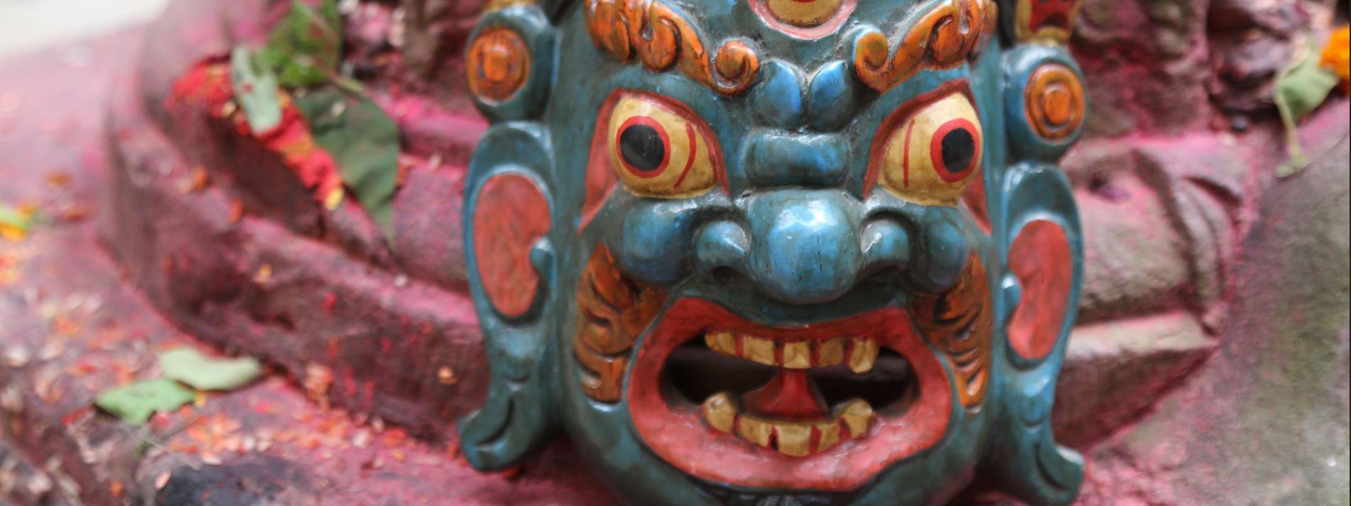 masque dieu  bhairava shiva Népal