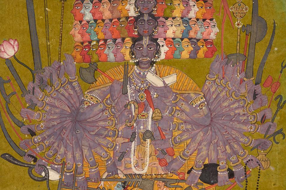 Avatars Vishnu Krishna Rama Préservateur Vishvarupa Mes Indes Galantes