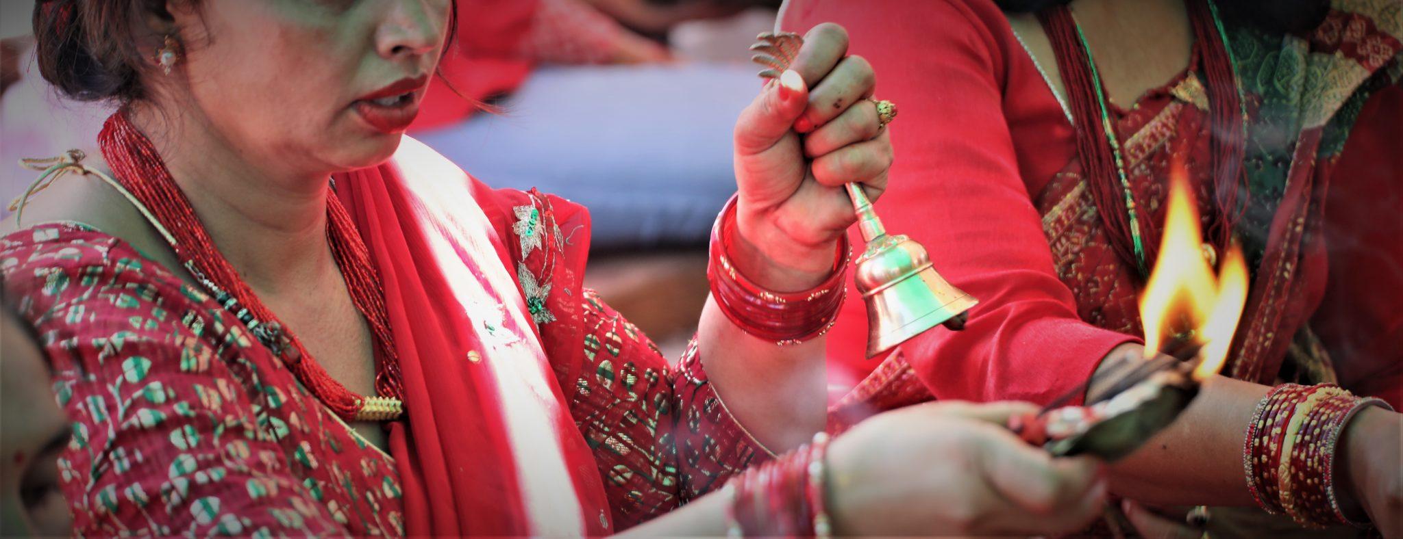 cloche rituel Népal