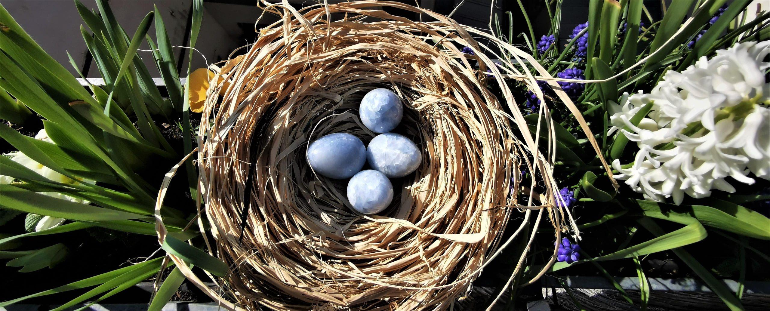 œuf calcite bleue Mes INdes Galantes PARIS