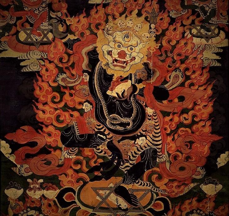 Simhamukha la Lione Blanche forme secrète de Padmasambhava