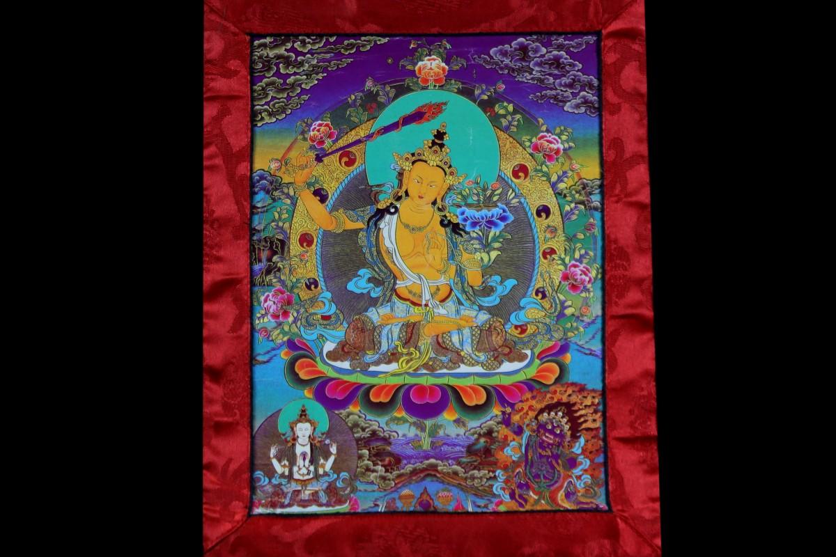bodhisattva de la grande sagesse Mes Indes Galantes - Thangka