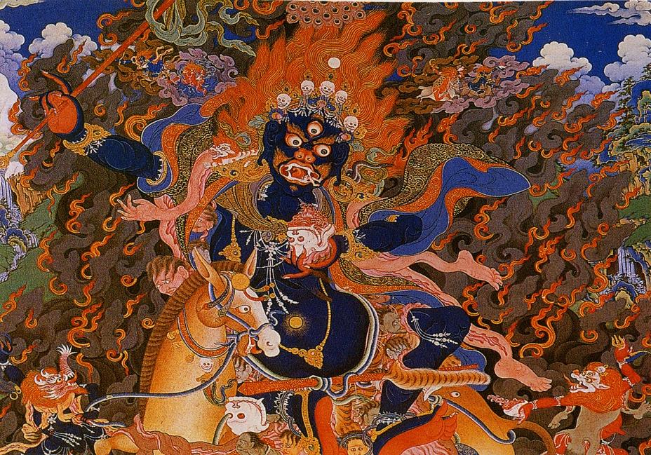 Lha Mo-Dharmapalas-thangka