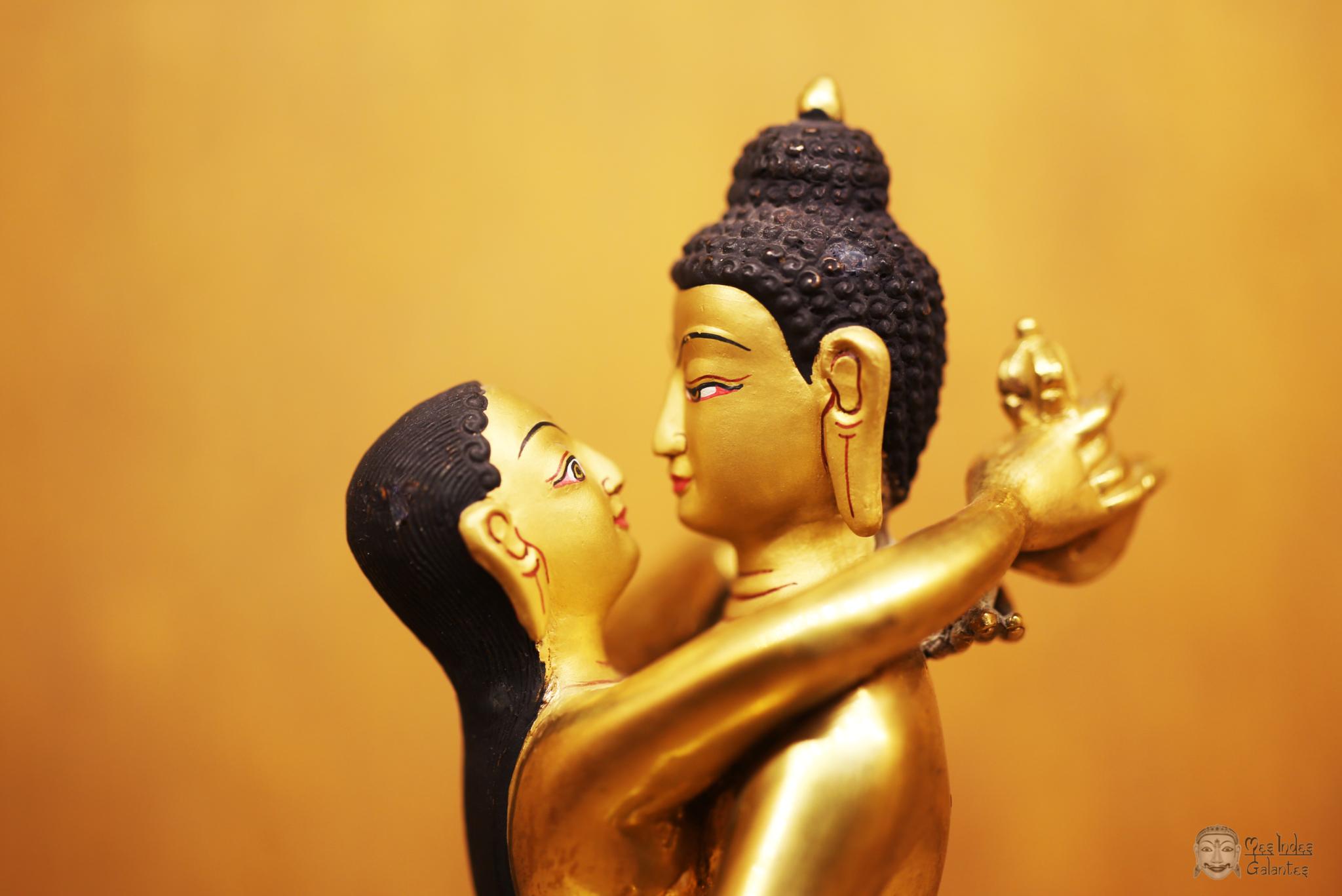 statue érotique bouddha Samantabhadra