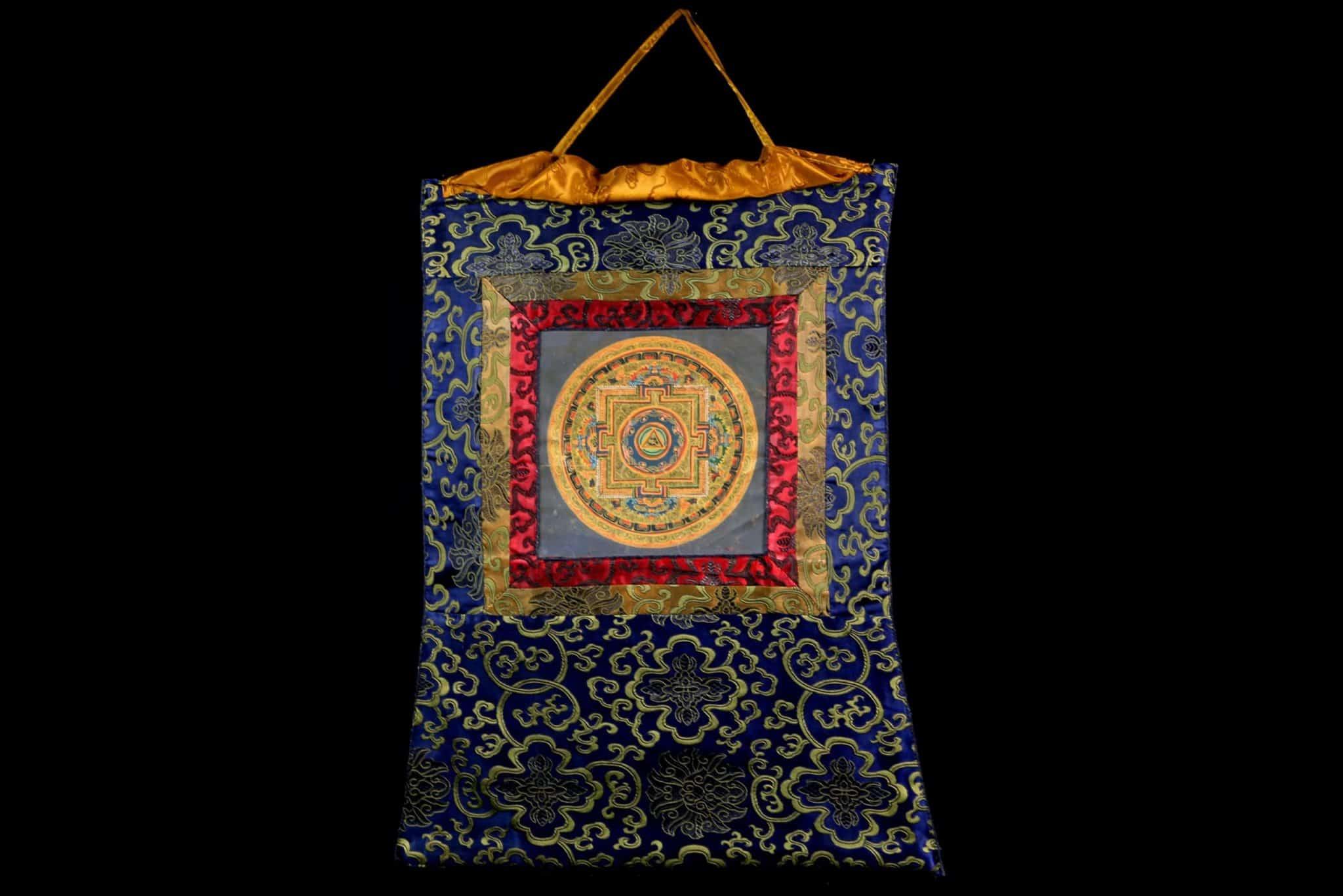 Thangka Mandala Népal Tibet Rouleau Mes Indes Galantes Achat