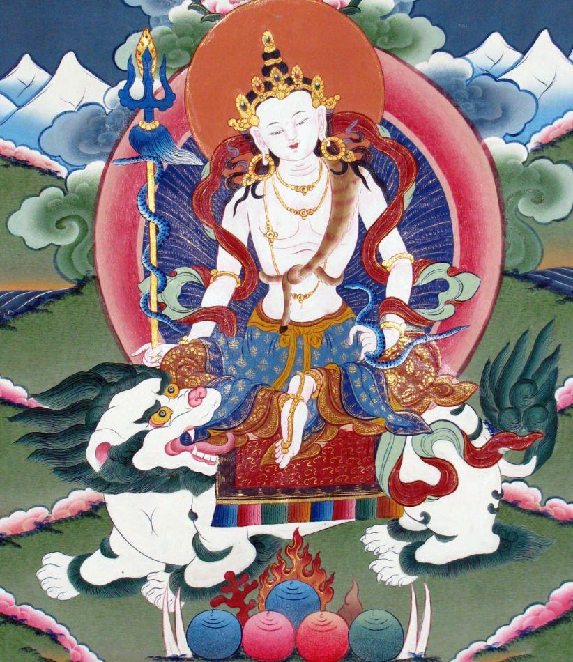 Simhanada avalokiteshvara statue paris achat