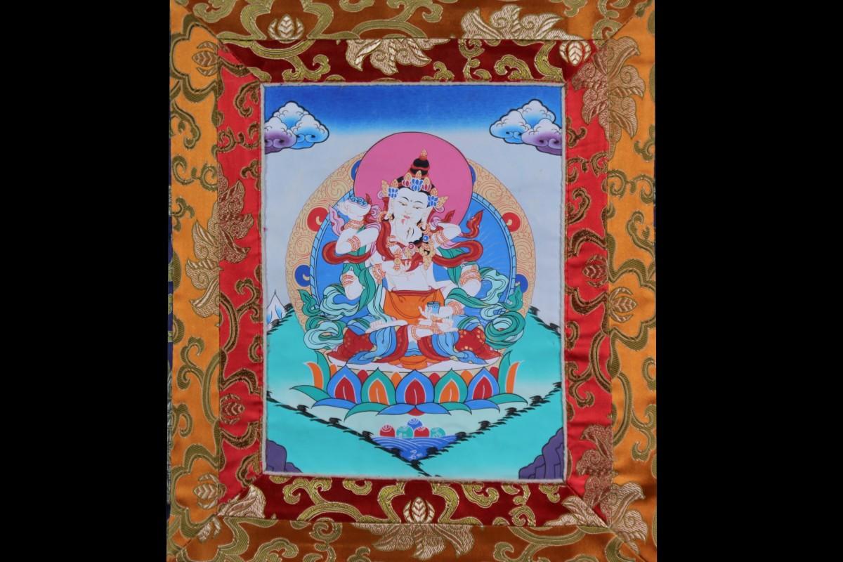Thangka Mandala Népal Tibet Rouleau Mes Indes Galantes Achat Vajrasattva
