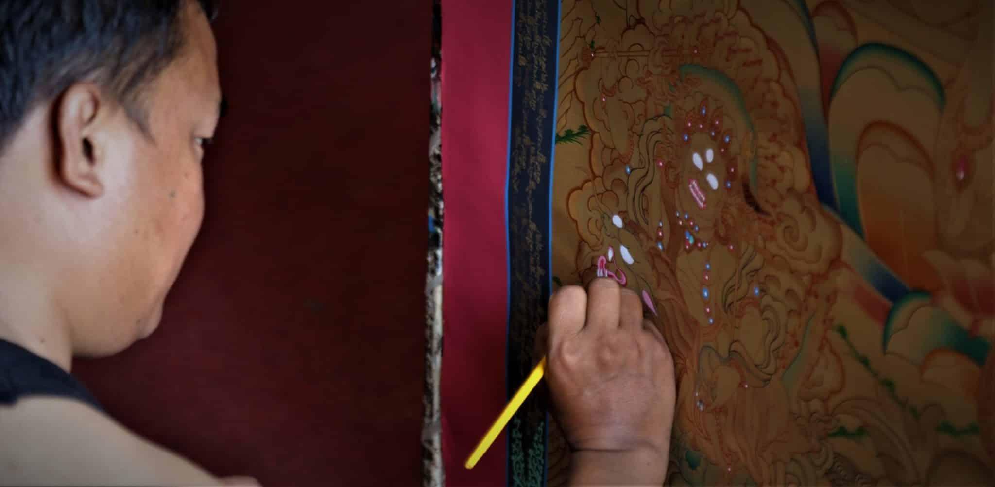Thangka Mandala Népal Tibet Rouleau Mes Indes Galantes