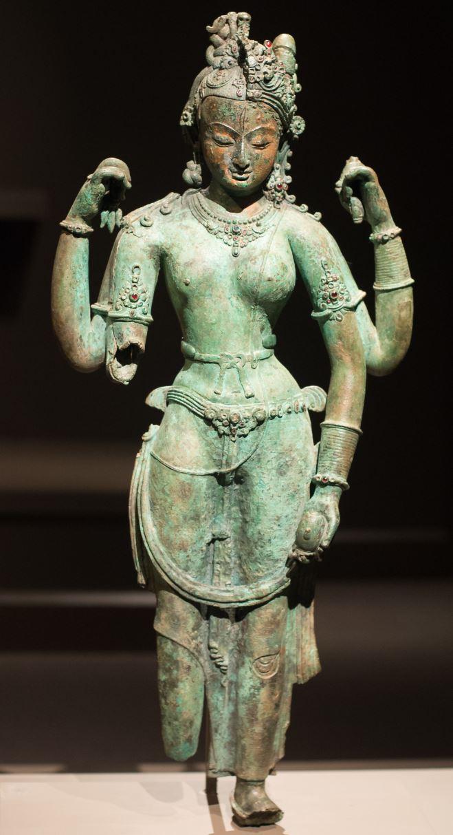 Ardhanari statue bronze