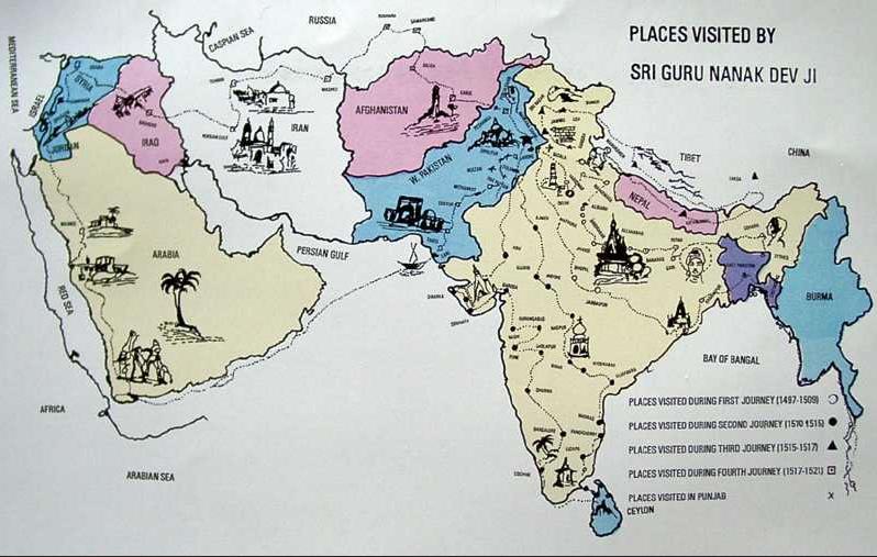 Voyages de Guru Nanak - Mes Indes Galantes Blog - Sikhisme