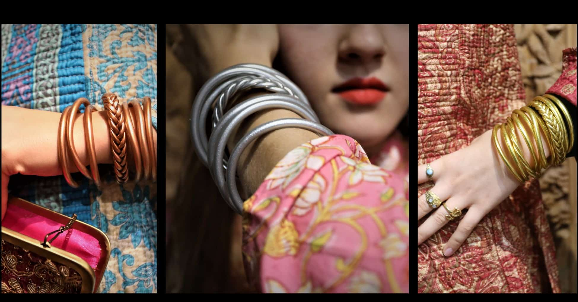bracelet bouddhiste or argent cuivre Mes indes Galantes PARIS