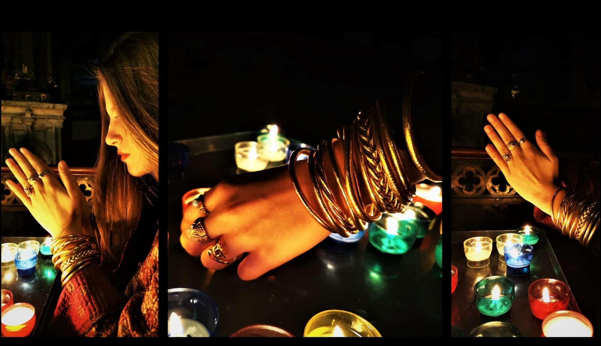 bracelet bouddhiste or PARIS MES INDES GALANTES