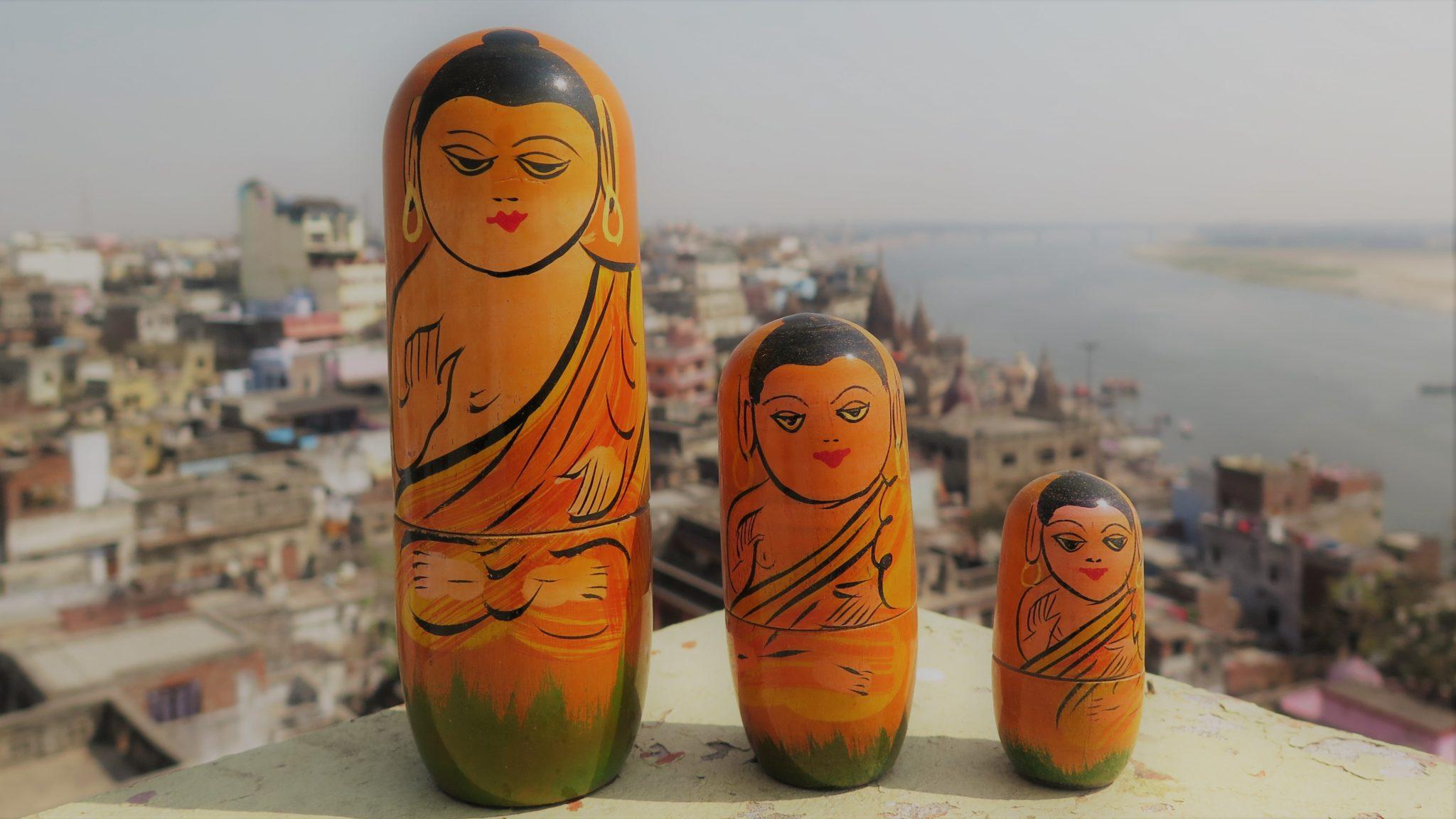 bouddha benares bois