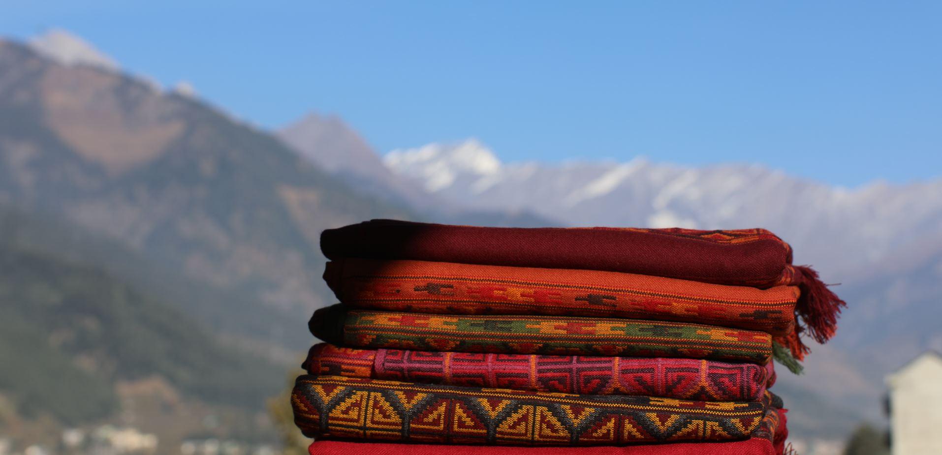 écharpe ethnique laine manali achat paris