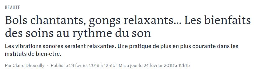 MASSAGE SONORE JOURNAL LE MONDE
