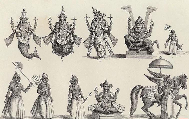 Avatars Vishnu Krishna Rama Préservateur Mes Indes Galantes