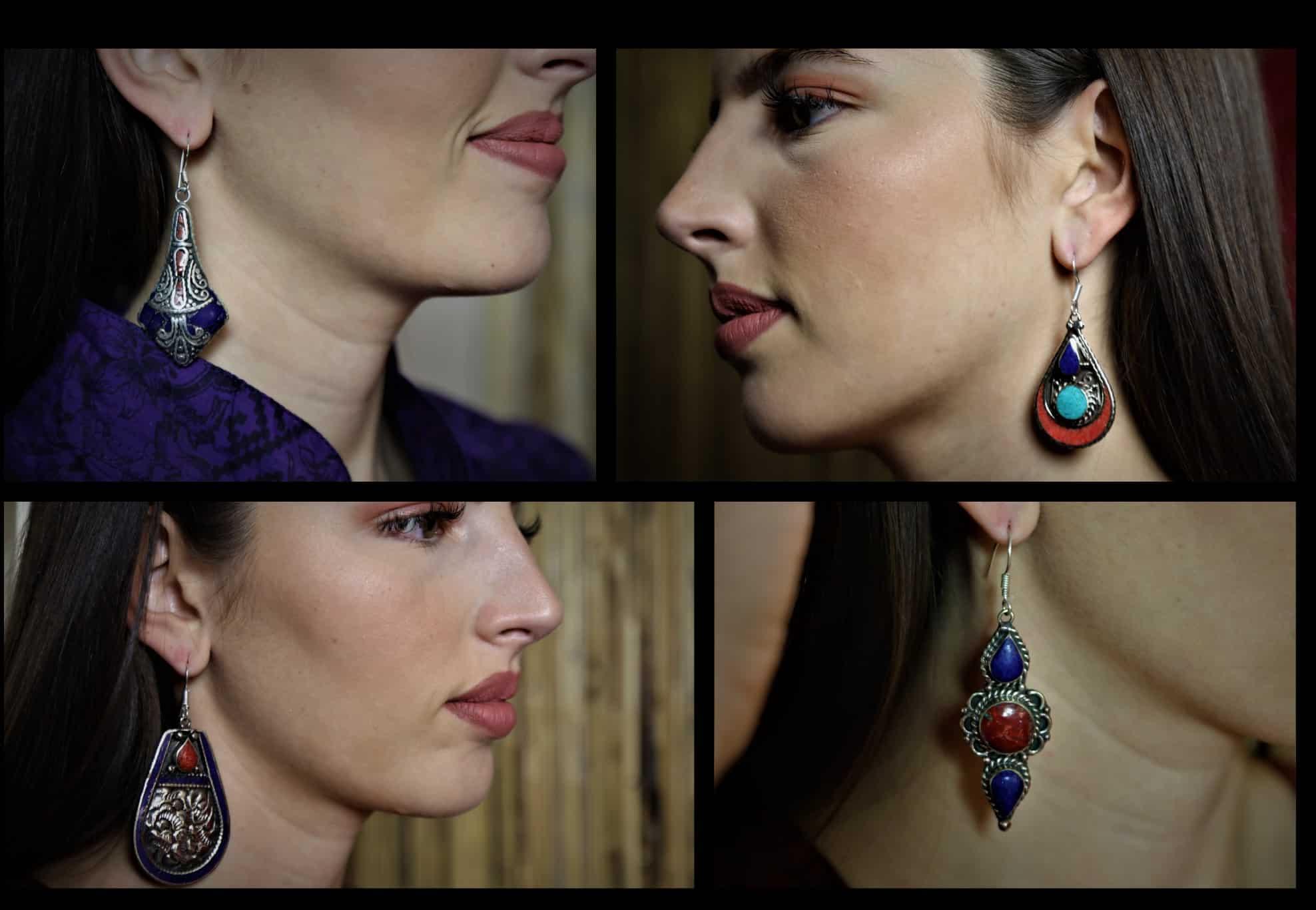 boucles d'oreilles Lapis lazuli MES INDES GALANTES PARIS