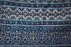Ajrak, étoffe de mosaïque indienne