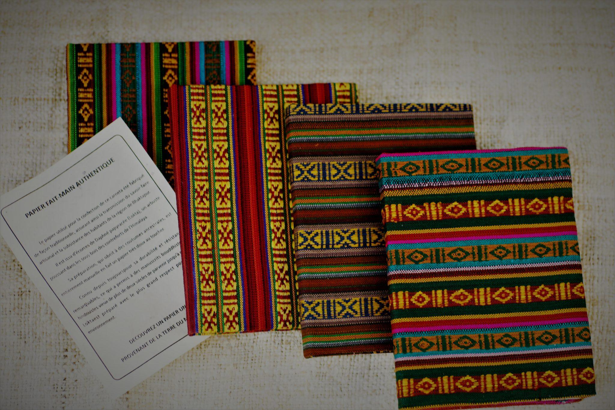 carnet lokta tissu bhoutan