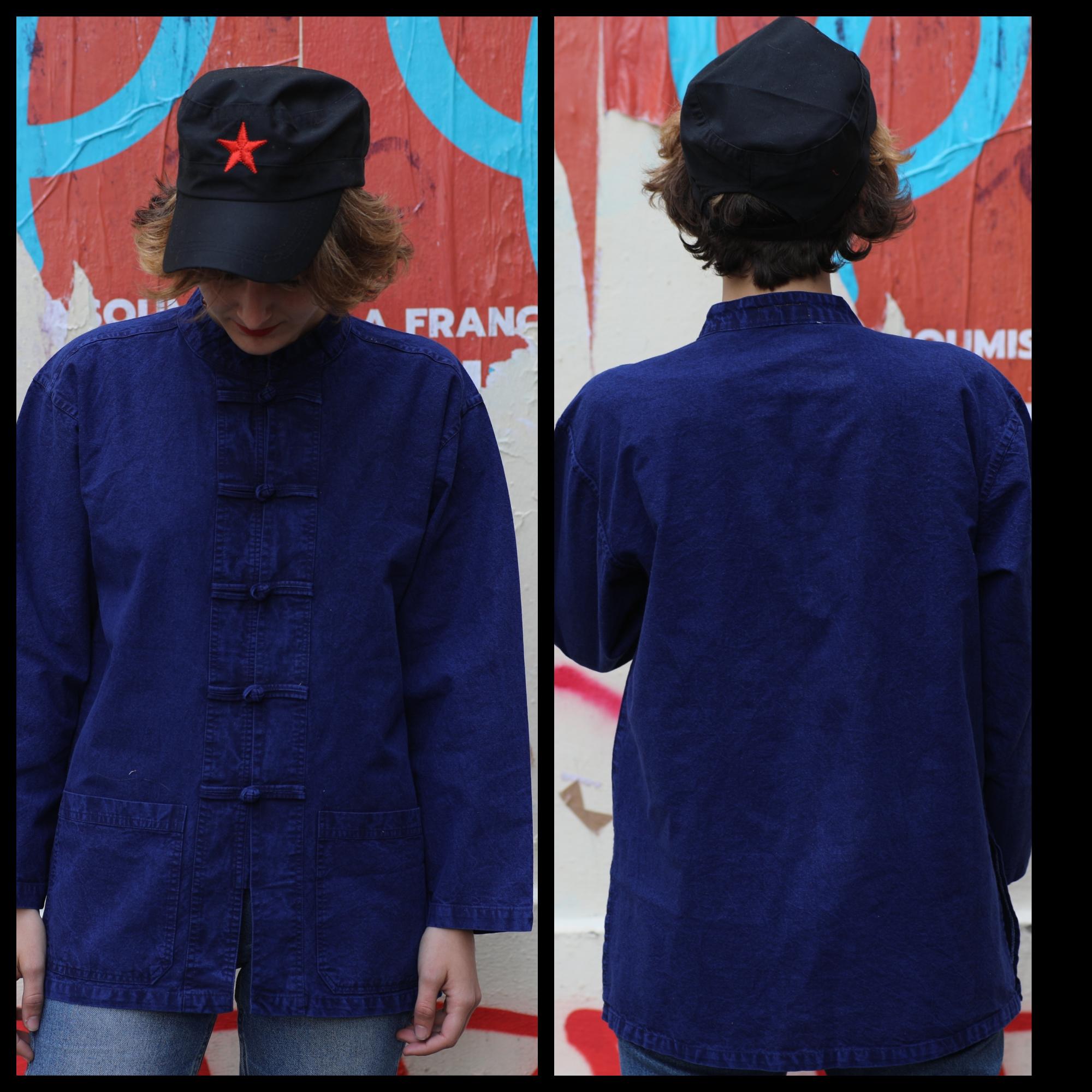 veste bleu travail