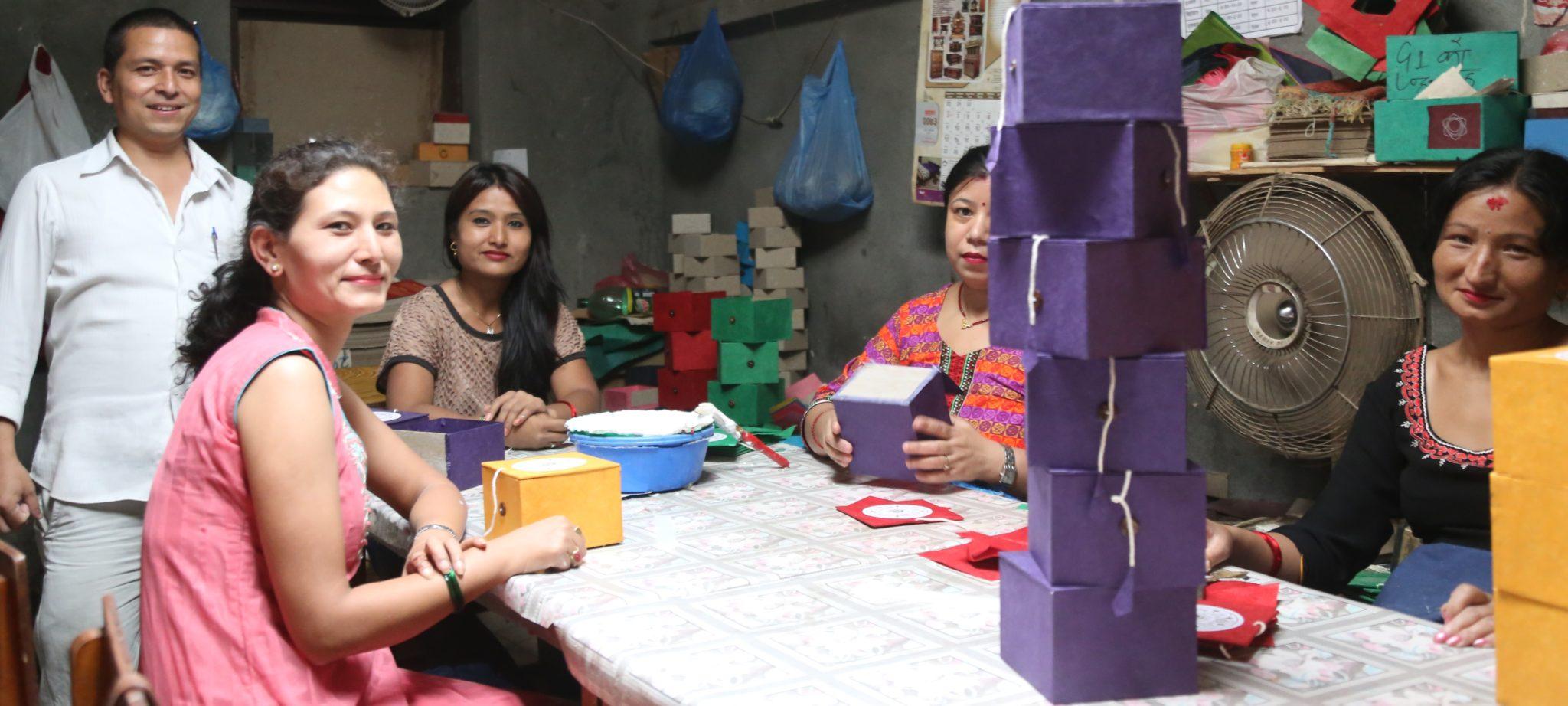 papier fait main Népal