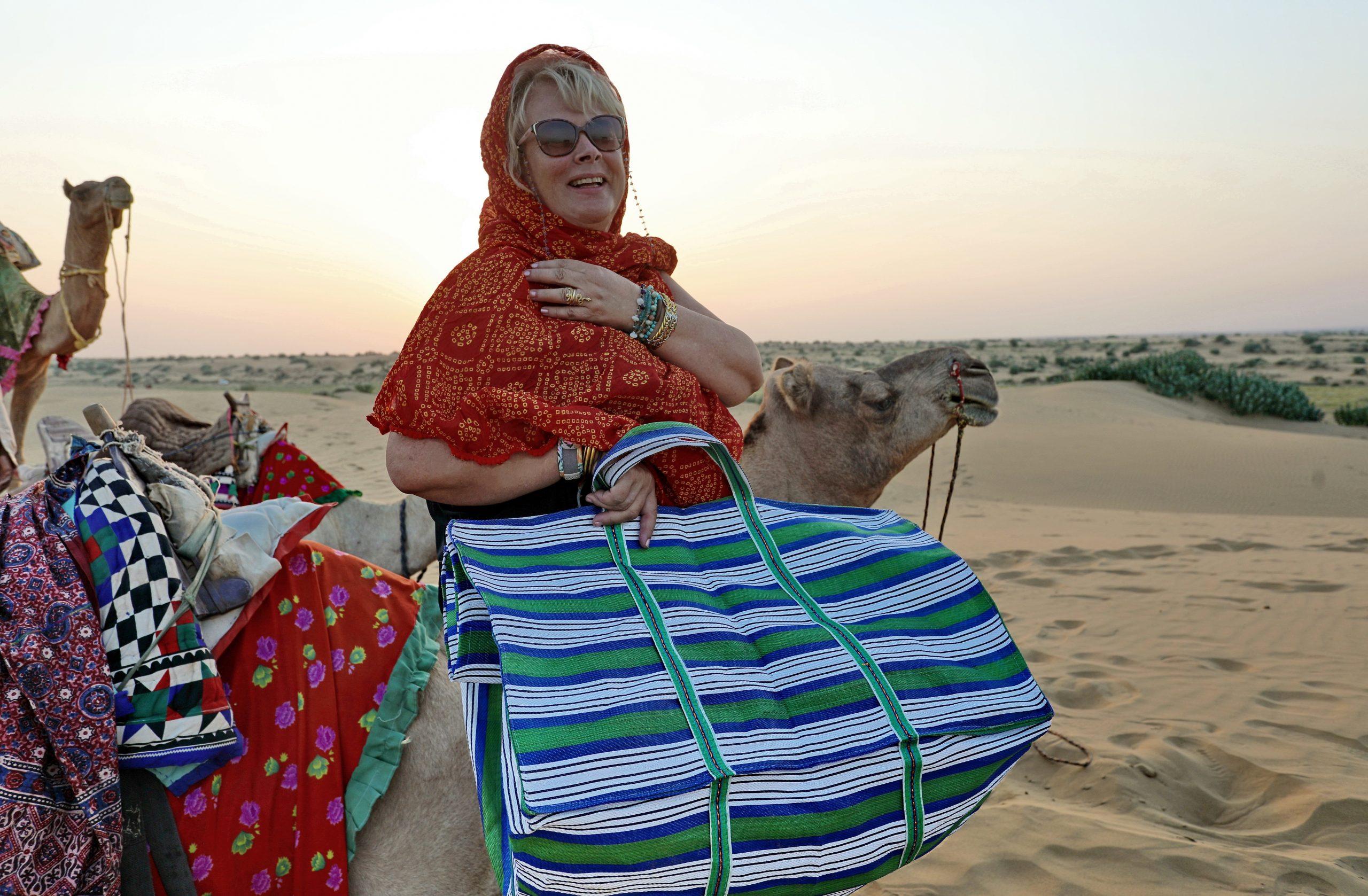 sac indien rayé