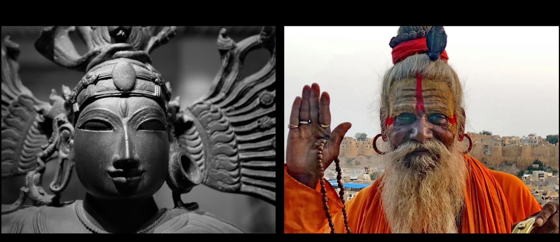 sadu yogi boucles d'oreilles indiennes créoles