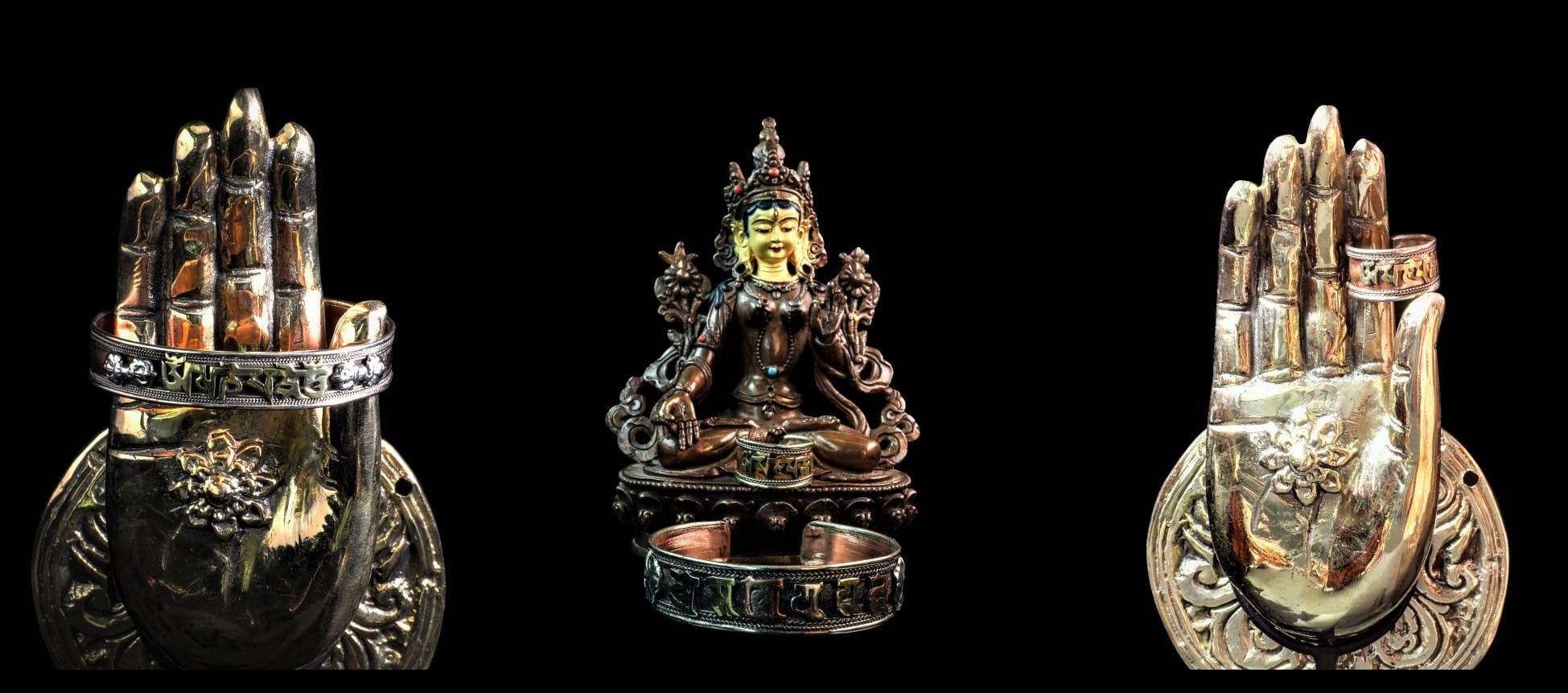 bracelet tibétain cuivre mantra