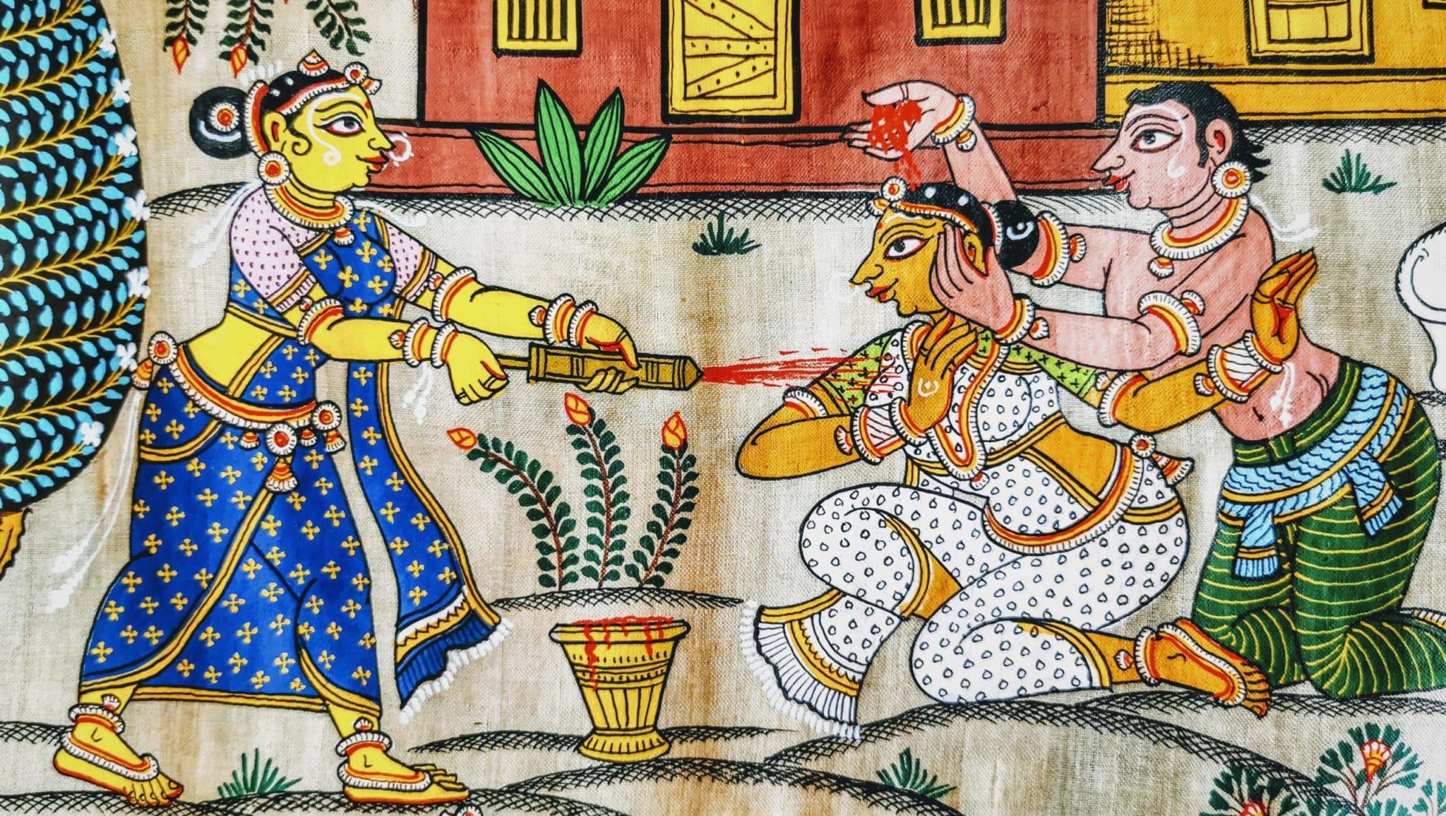 Pattachitra Peinture sur tissu Orissa Hindouisme