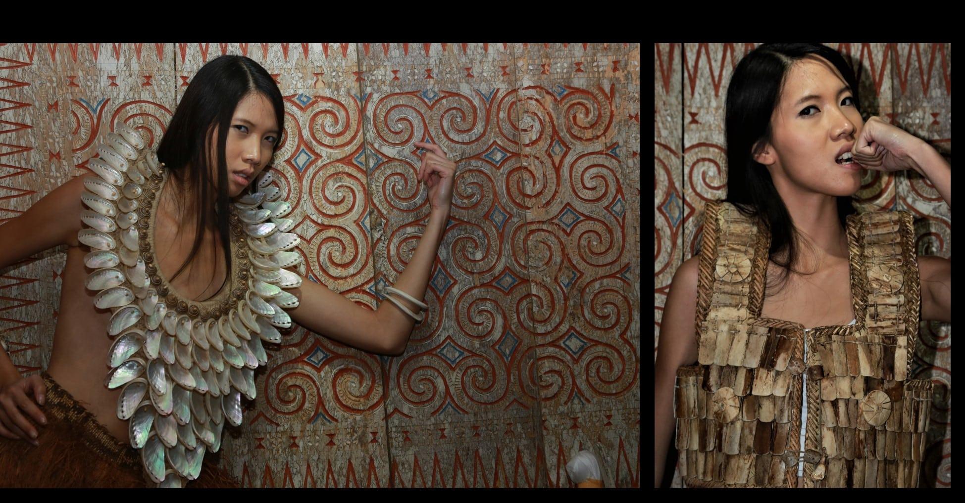 Peinture toraja Panneau toraja Tongkonan Pays toraja Mes Indes Galantes