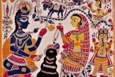 Peinture indienne de Madhubani, l'art naïf
