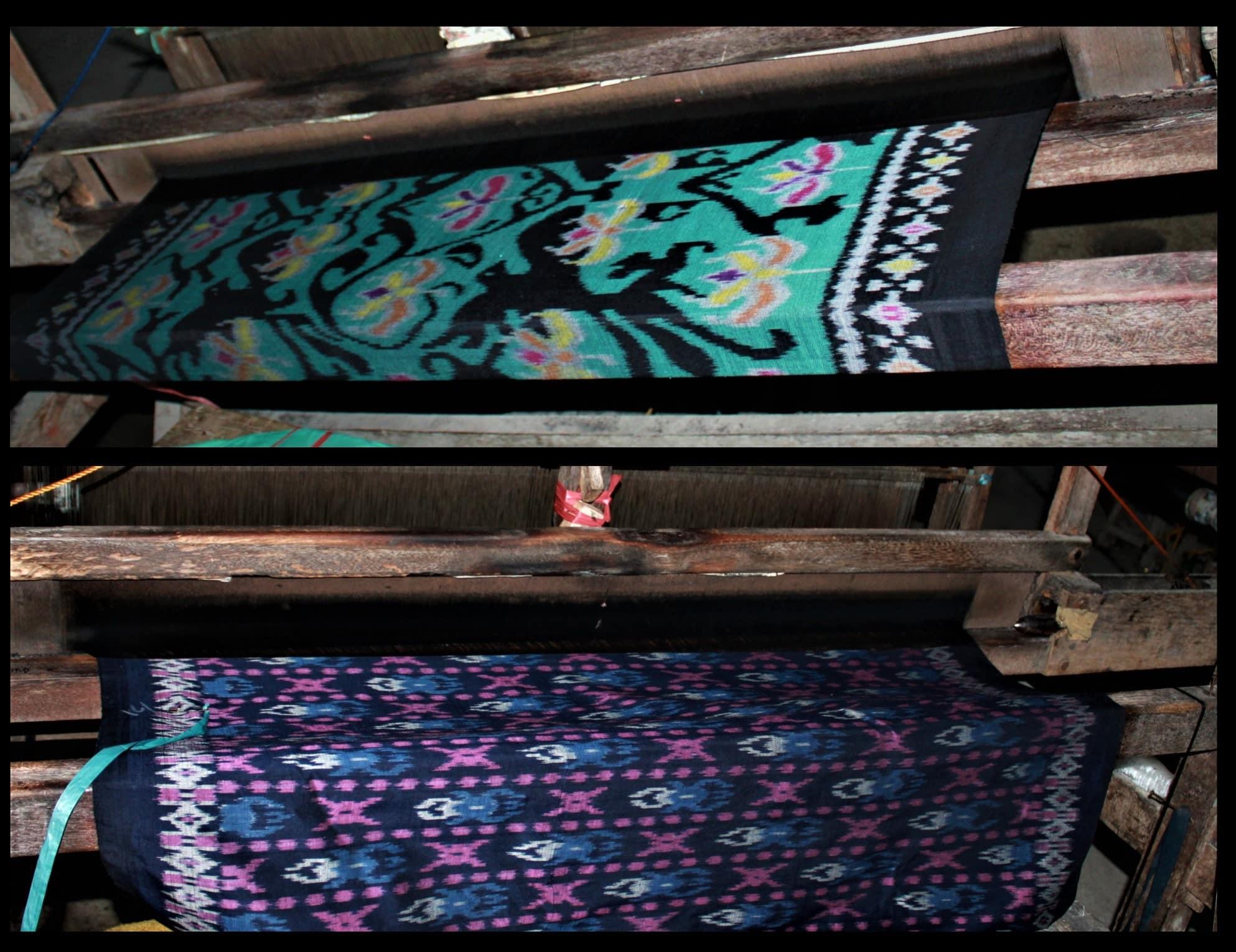 Endek Ikat balinais Tissu balinais Bali Tissage Mes Indes Galantes