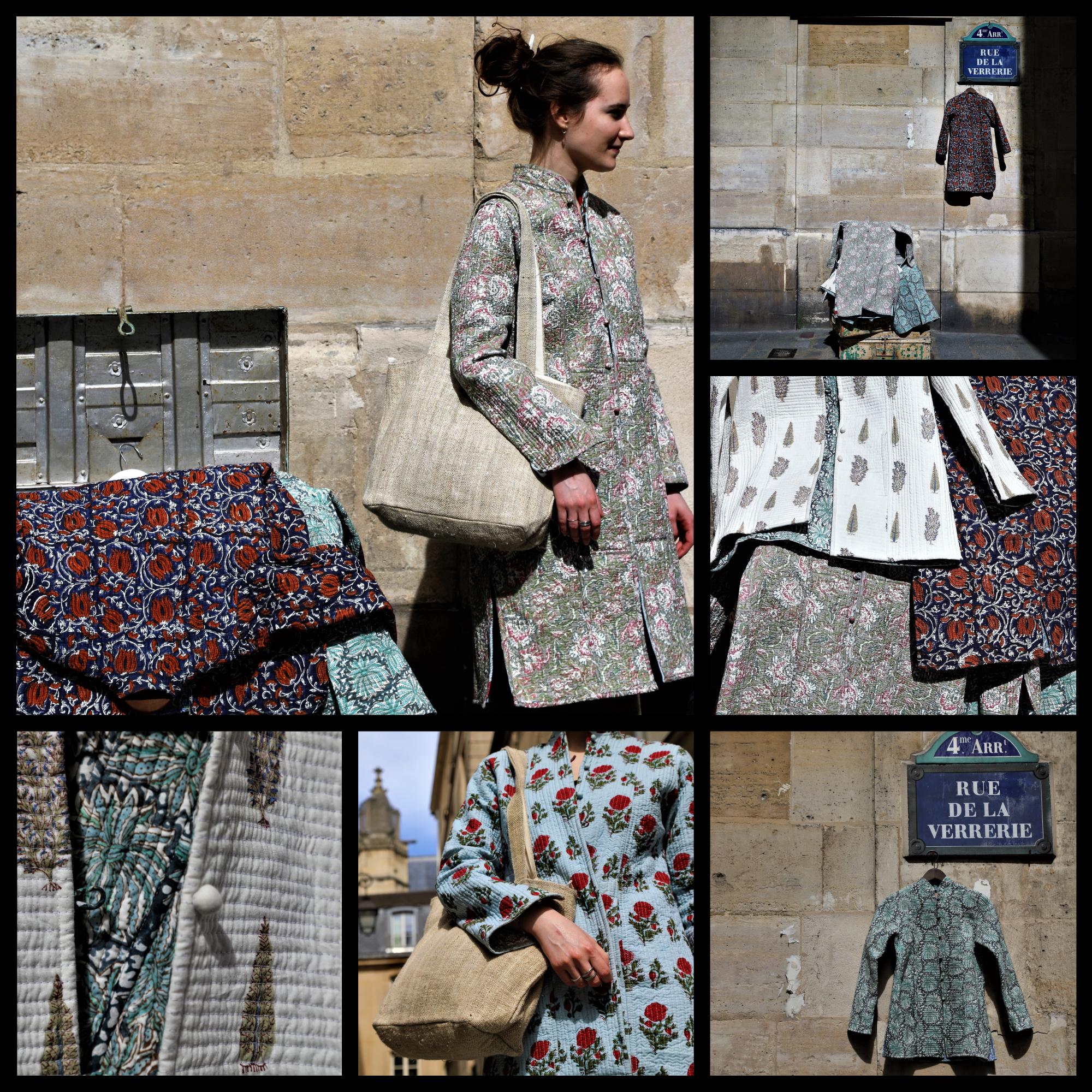 veste matelassée, soie recyclée