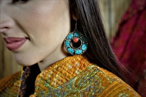 Boucles d'oreilles Tibétaine
